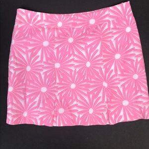 Vineyard Vines Short White & Pink Daisy Skirt Sz 0